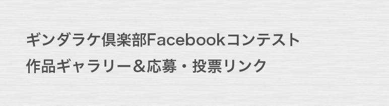 ギンダラケ倶楽部Facebookコンテスト-作品ギャラリー&応募・投票リンク